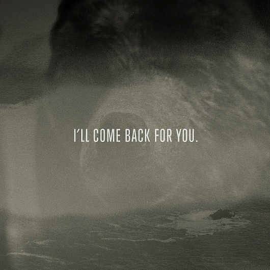 I'll Come Back For You. | Flickr - Photo Sharing! #white #black #photography #and #typography