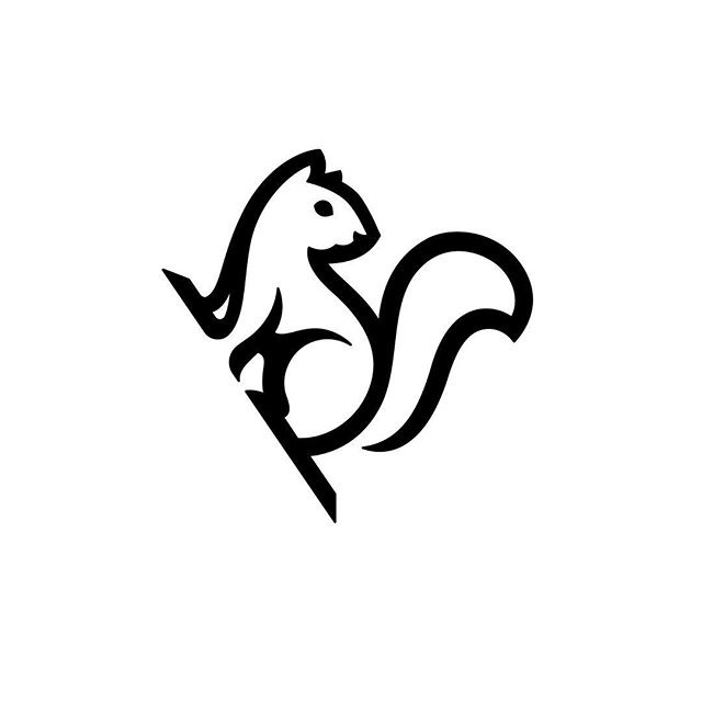 Logo for a book publisher #logo #design #squirrel #illustration #branding #graphicdesign #logo #branding #mark #symbol #identity