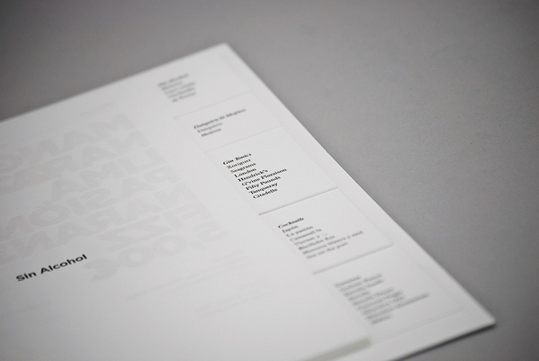 Aroma on Behance #white #gotham #menu #aroma #restaurant #minimal #typography