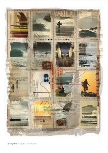 Surf & Coast / Stamp Collection Series / Limited Studio Edition   sleepless ink #limited #stamp #edition #surf #sleeplessink #coast
