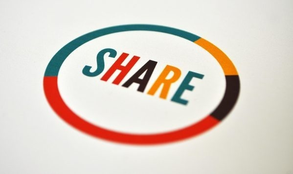 Share Better Together on the Behance Network #logo #hare
