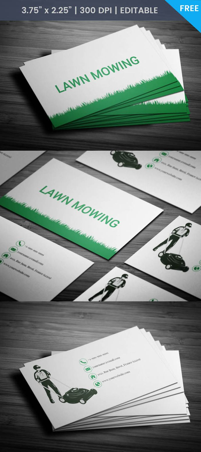 Free Lawn Business Card Template