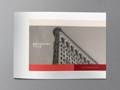 Minimal Modern Red Brochure. #brochure #editorial #minimal #modern #creative #template #inspiration