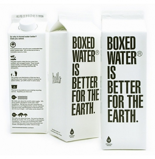 Boxed Water : Lovely Package . Curating the very best packaging design. #packaging #design #graphic