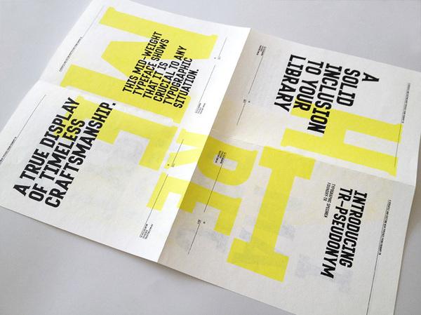 Tim Ruxton Self Promo Type Specimen Poster #poster