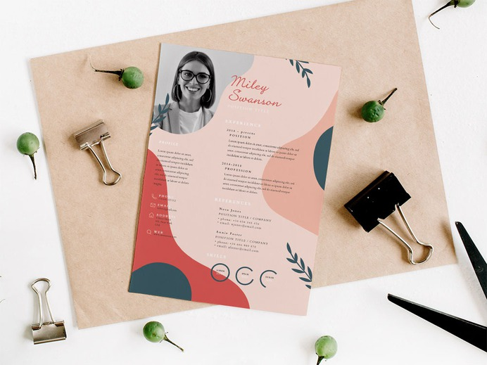 Free Floral Designer Resume Template for your Job Interview