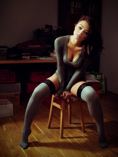 dystopiantt:stool #sexy #photography #woman