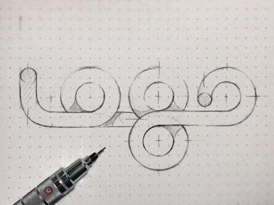 Dribbble - logo by Eddie Lobanovskiy #logo #pencil #sketch #typography