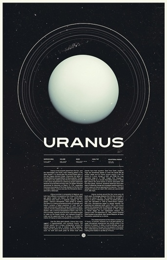Under the Milky Way, Ross Berens's Portfolio #uranus #typo #space #poster