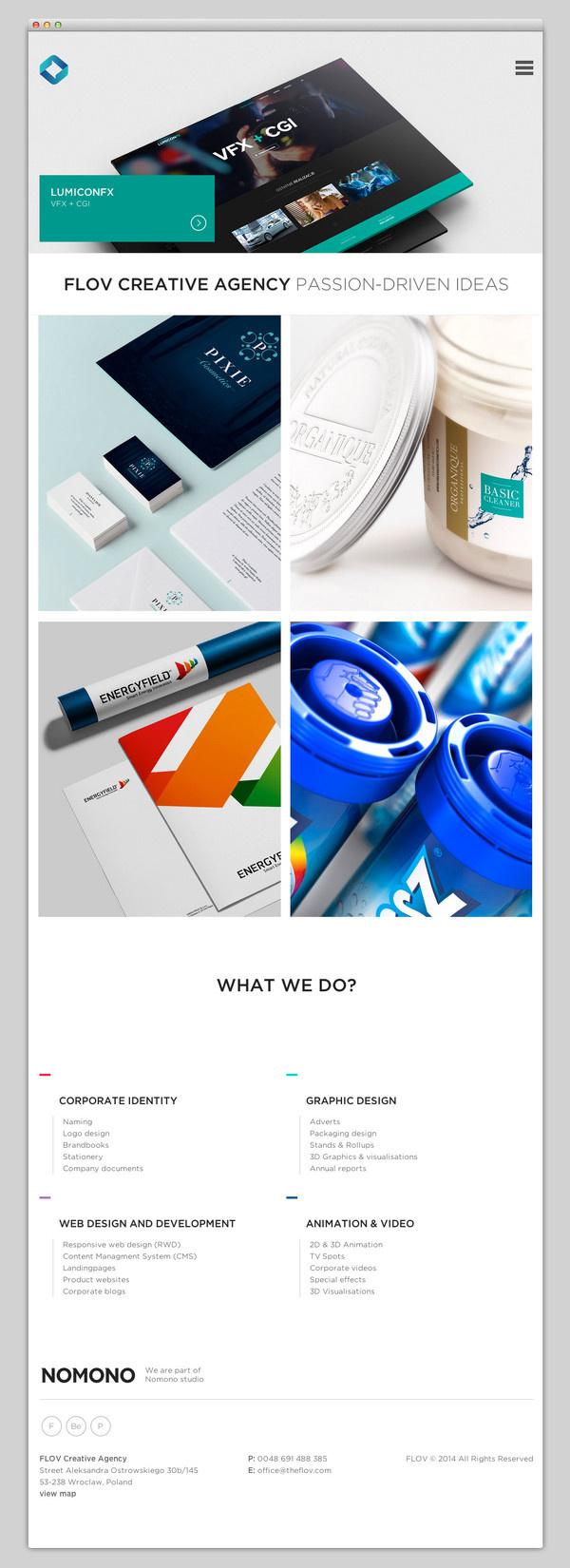 FLOV Creative Agency #website #layout #design #web