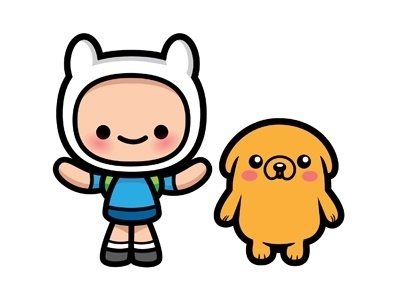 Dribbble - Jake and Finn by Jerrod Maruyama #adventure #illustation #time #kawaii #characters