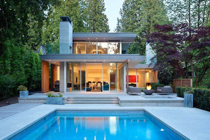 James K.M. Cheng Architects have designed this house in Vancouver, Canada, that is positioned on a lot 350 feet in length and is surrounded