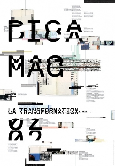 Poster Pica Mag on the Behance Network #akkurat #justin #design #books #lortie #poster #type #pixels #typography