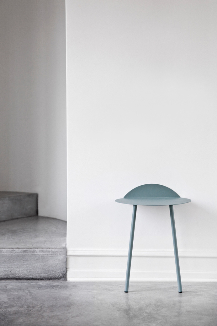 Yeh Wall Table - moss green by Kenyon Yeh #design #sidetable #furniture #product #metal #minimalist #table #green
