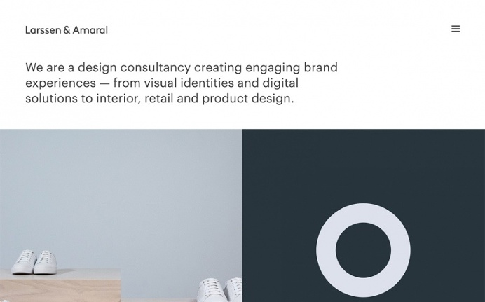 Larssen & Amaral norway branding design webdesign beautiful beauty best minimal simple clean cool trend award site of the day portfolio norw