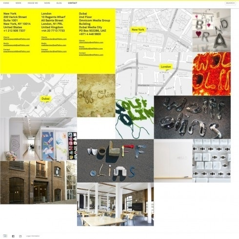 The website design showcase of Wolff Olins. #website #grid #layout #design