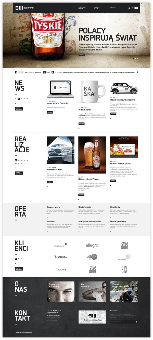 Webpages / Boldmind by Maciej Mach, via Behance #website