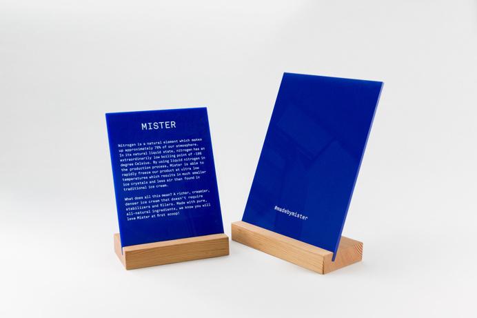 mister ice cream branding corporate design vancouver canada mindsparkle mag designblog blue logo logotype business card marble white packagi