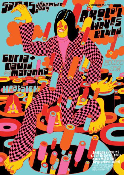 38382_415.jpg 415×587 pixels #running #illustration #psychedelic