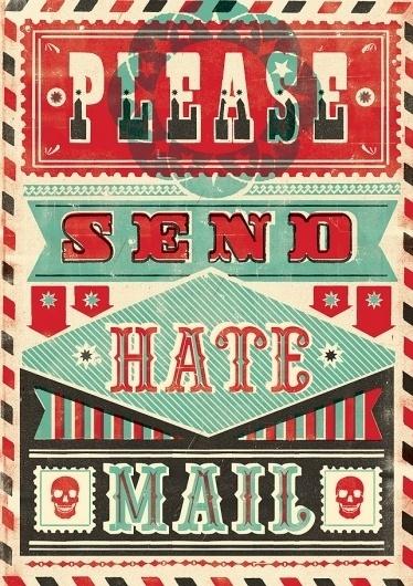 Buamai - HATE MAIL : Telegramme Studio #hate #circus #illustration #type #typography