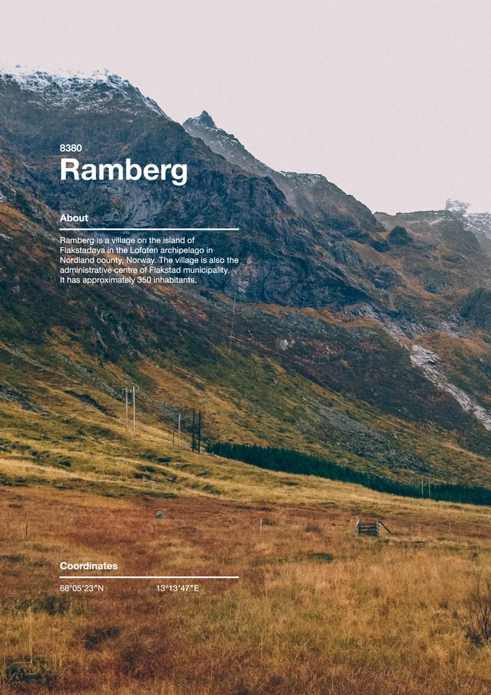 68° N #islands #norway #helvetica #grid #photography #poster #lofoten #layout