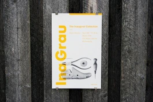 Ina Grau - Anthony Lane - Logo, Branding and Identity Design | Minneapolis, MN #halftone #swiss #shoes #print #yellow #identity #poster #type #typography