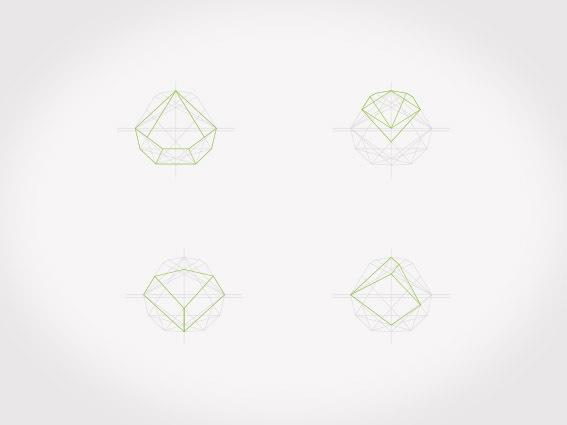 Woodou || dynamic identity #green #dynamic #geometry #brand #identity #logo #grey