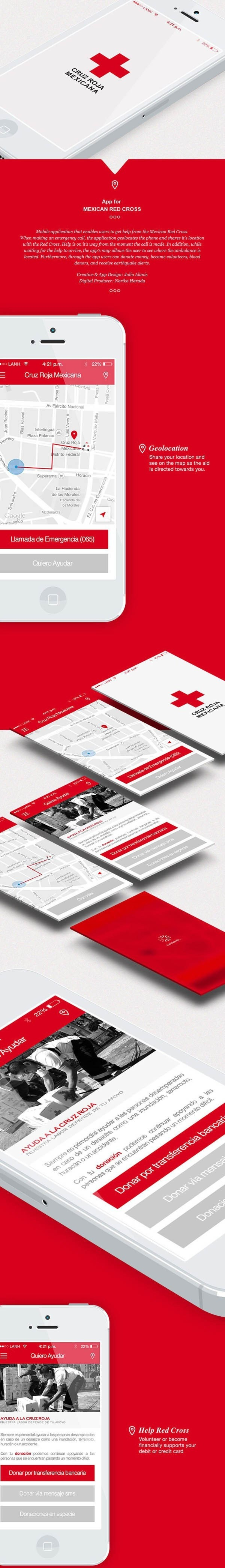 MEXICAN RED CROSS App by Julio Alanis