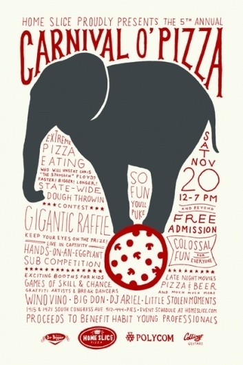 carnival o' pizza « #illustration #circus #poster