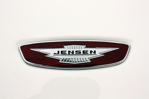 Chromeography #white #red #logo #car #jensen