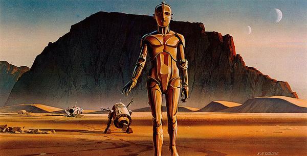 Ralph McQuarrie #robot #space #landscape #cyborg #planet #robots