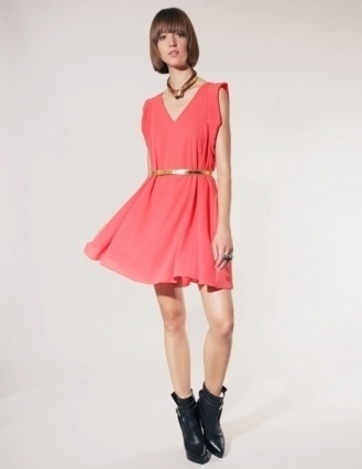Orange belted dress [Mal1373] - $97 : Pixie Market, Fashion-Super-Market ($50-100) — Svpply #girl #belted #womens #fashion #dress