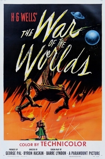 Cool Vintage Movie Posters | Cruzine #war #of #worlds #the #aliens #vintage #poster #50s