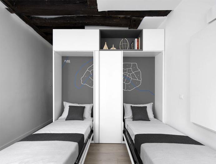 Multifunctional Space in 16 square meters in Paris - InteriorZine