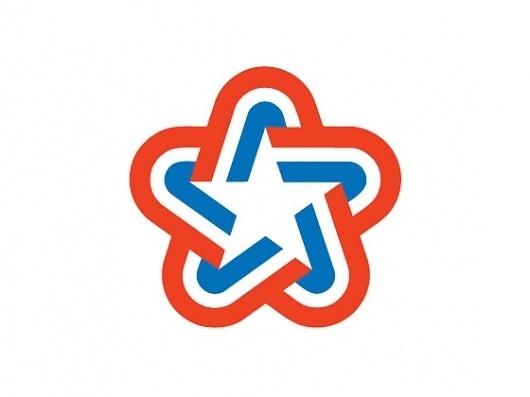 U.S. Bicentennial | Chermayeff & Geismar #mark #states #red #america #bicentennial #emblem #logo #united #star #usa #blue