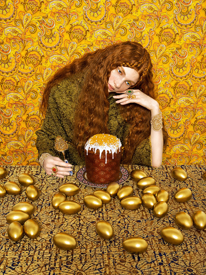 #photo #portrait #gold #hair #wallpaper #ornament photo by Andrey Yakovlev