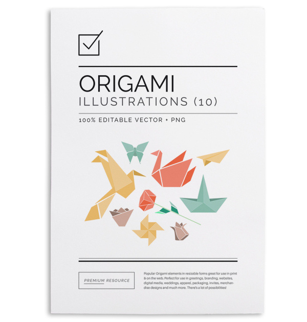 Welcome to the popular Origami graphics Set.