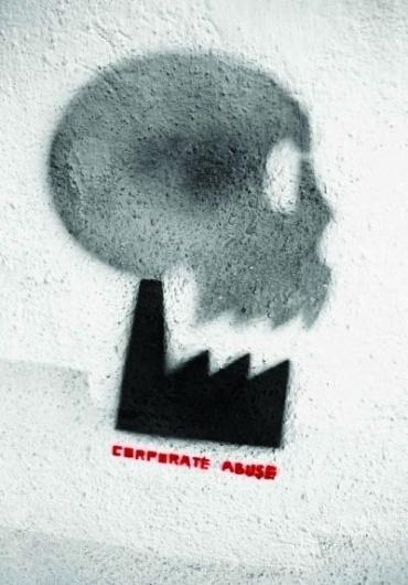 Tumblr #graffiti #corparate #abuse #stencil #illustration