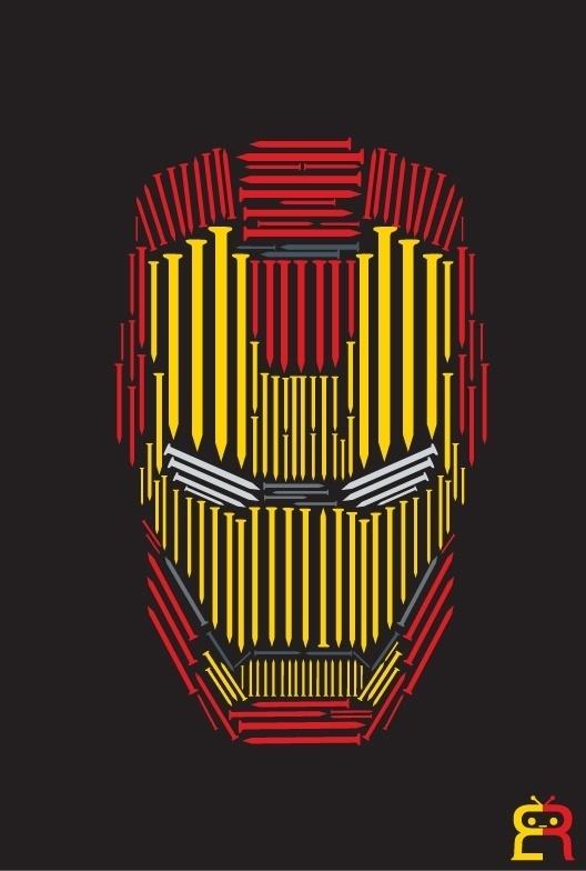 Illustrations   Arts   Etc on the Behance Network #iron #hero #avengers #marvel #nails #ironman