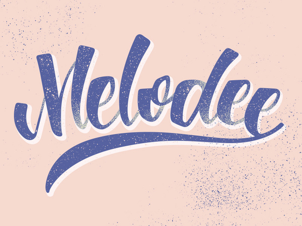 Melodee Lettering #calligraphy #lettering #melodee #typeface #barcelona #brush #typography