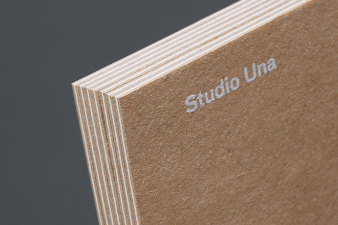 studio una graphic design branding logotype corporate identity germany mindsparkle mag designblog cardboard brown silk screen printing print