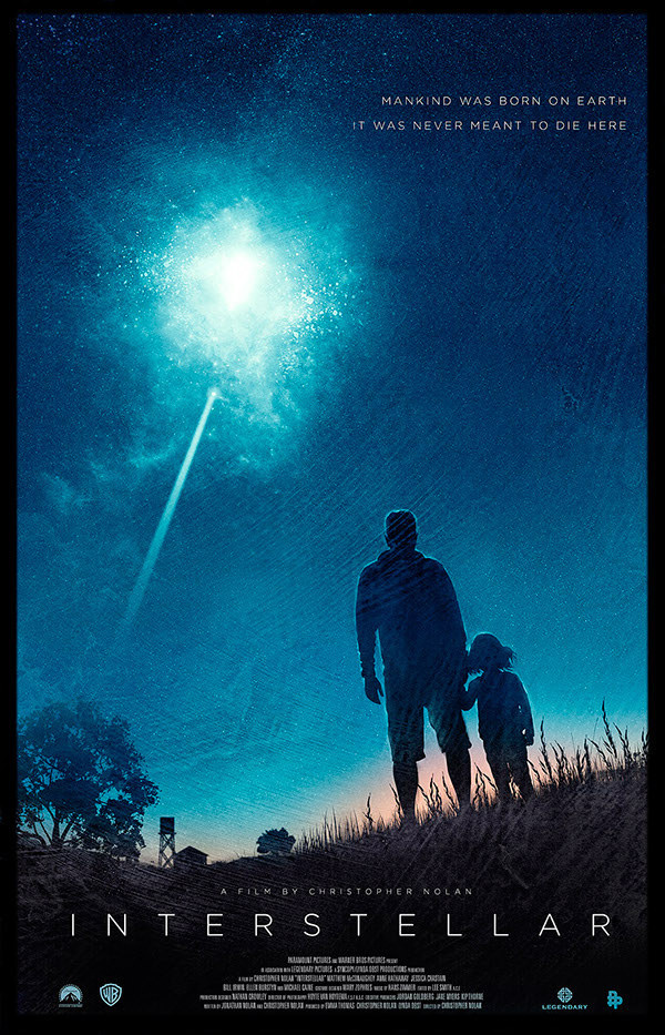 Poster by Richard Davies #inspiration #design #print #poster #creative #movie #film #interstellar #unique #space
