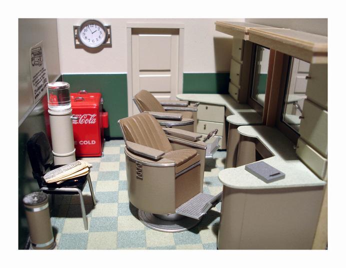 Barber Shop interior   Flickr - Photo Sharing! #interior #miniature #diorama #art