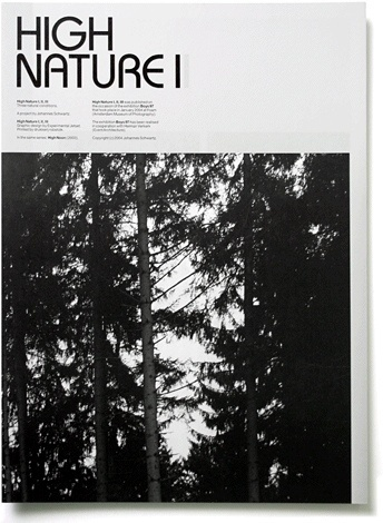 High Nature - Experimental Jetset #print #publication #typography
