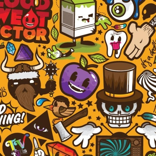 P.A.D. (Super Ultra Combo Version) on the Behance Network #illustrator