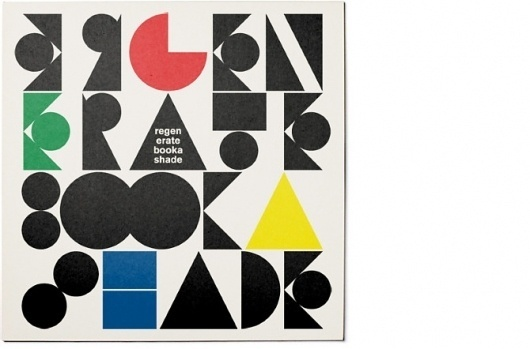 Booka Shade —More, by HORT - Visual Journal #shade #graphic #booka #vinyl #music #short #typography