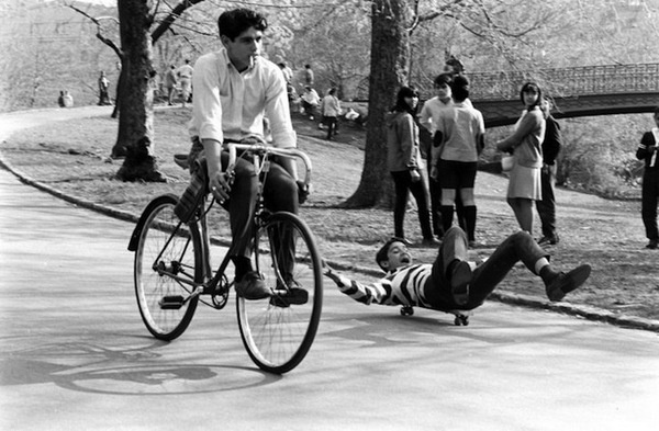 billeppridgeskateboardinginnyc_15.jpeg #b&w #oldschool #skateboard #1960s #bike #york #nyc #new