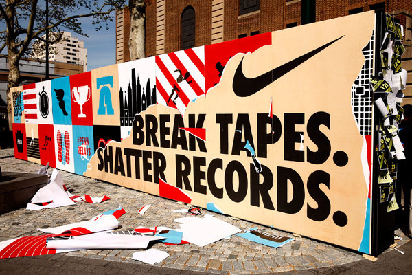 Nike mural #iconography #of #design #graphic #heads #the #nike #state #typography