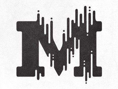 M Logo by Anna Ropalo #letter #type #illustration #m