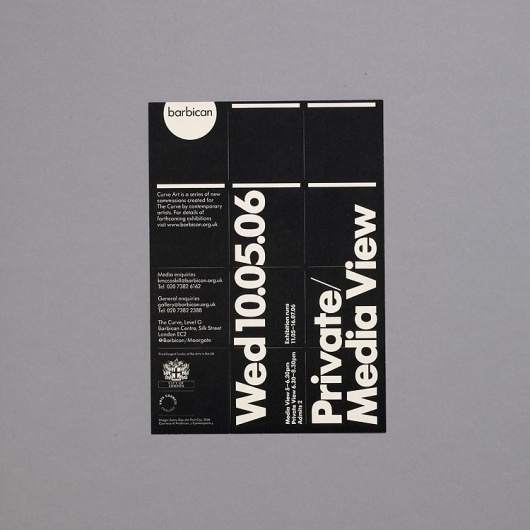 SI Classics: North × Barbican | September Industry #print #layout #poster #typography